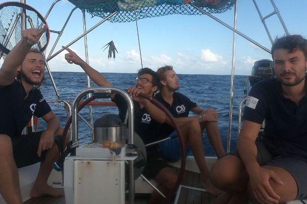 L'arrivée à la Barbade le 9 janvier après 19 jours de mer