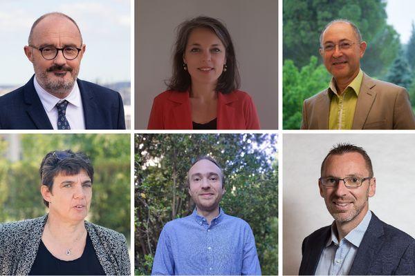 Les têtes de liste du Rassemblement écologique et social pour les élections régionales 2021 en Provence-Alpes-Côte d'Azur.