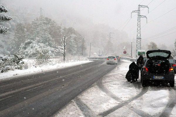 Les conditions de circulations sur les routes nationales seront délicates, particulièrement en montagne.