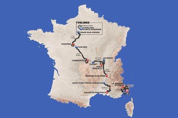 Le parcours 2016 du Paris-Nice.
