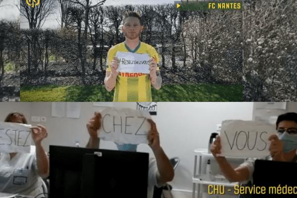 Ils sont soignants, pharmaciens, postiers ou caissières. Dans une vidéo, le FC Nantes rend honneur aux professions en première ligne, et rappelle l'importance de respecter le confinement.