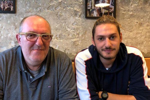 Jean-François Puech et son fils Lucas