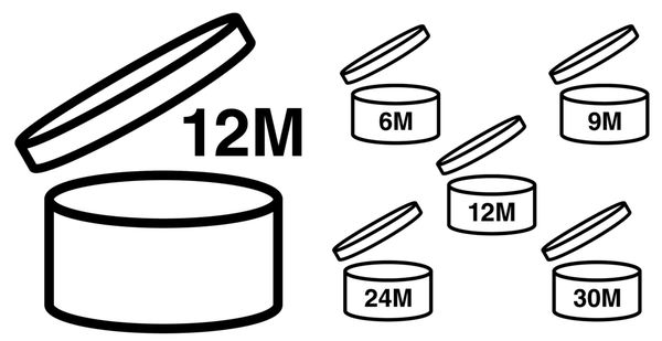 Combien de temps vos crèmes se conservent-elles après ouverture ? Réponse avec le pictogramme sur le flacon.