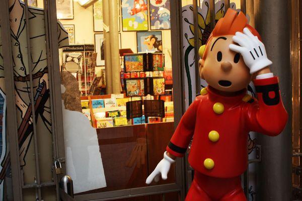 Spirou au musée de la BD à Bruxelles