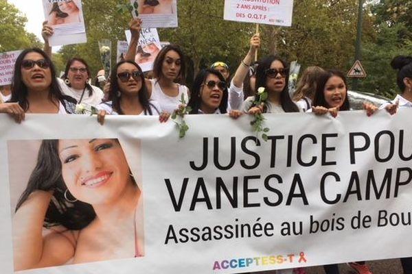 Vanessa Campos a été tuée au bois de Boulogne en août 2017. 150 personnes assistaient à la marche blanche pour lui rendre hommage.