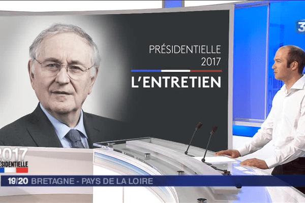 Moïse Blin, soutien de Jacques Cheminade, a présenté sur le plateau de France 3 Bretagne le programme du candidat du Parti solidarité et progrès à l'élection présidentielle.