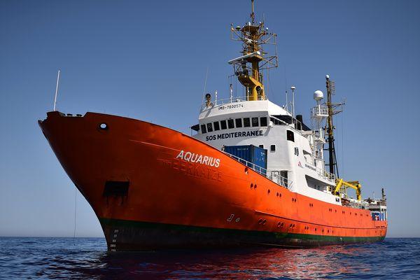 L'Aquarius, bateau de SOS Méditerranée