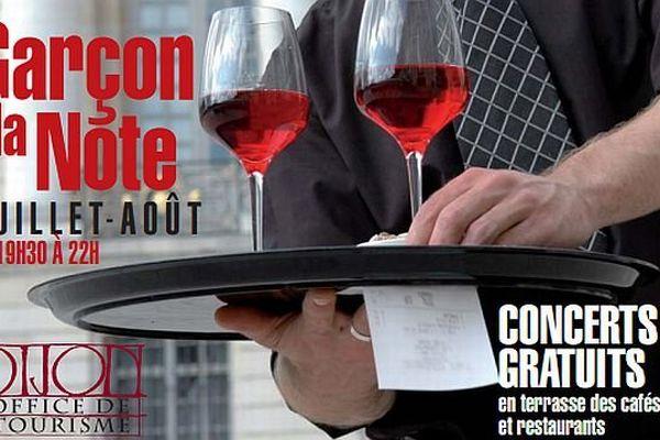 32 concerts gratuits sont prévus à Dijon du 1er juillet au 29 août 2013 dans le cadre du festival Garçon la note !