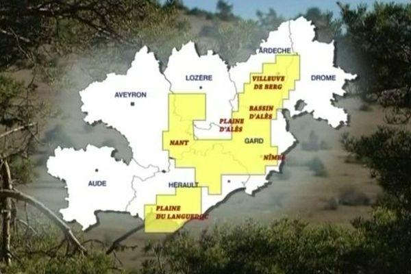 Carte des projets de permis de recherche de gaz de schiste dans le sud