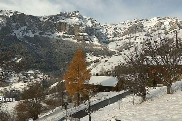 Le village d'Albinen dans le Haut-Valais Suisse