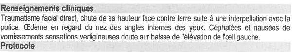 Extrait du certificat médical établi par le CHU d'Hautepierre