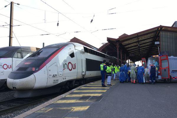 Le TGV médicalisé en gare de Strasbourg ce vendredi matin