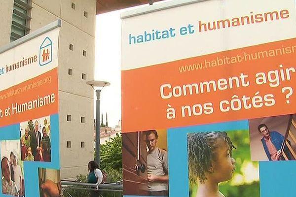 Béziers (Hérault) - l'association habitat et humanisme lutte contre le mal logement - mai 2019.
