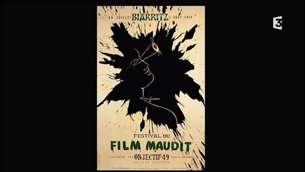 """Affiche """"Festival du film maudit de Biarritz 1949"""""""
