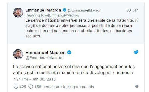 Capture d'écran Twitter compte Emmanuel Macron