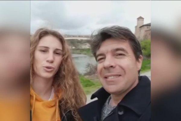 Sylvain Cayre est accompagné depuis quelques mois d'une étudiante italienne qui se passionne elle aussi pour la présentation des bulletins météo.