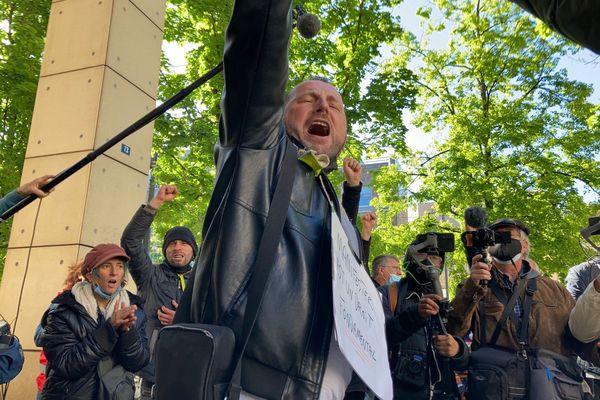 Frédéric Vuillaume, le 20 mai 2021 devant le tribunal correctionnel de Dijon