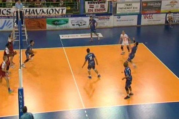 Les volleyeurs de Montpellier, en déplacement, ont battu Chaumont sur son terrain 3 sets à deux