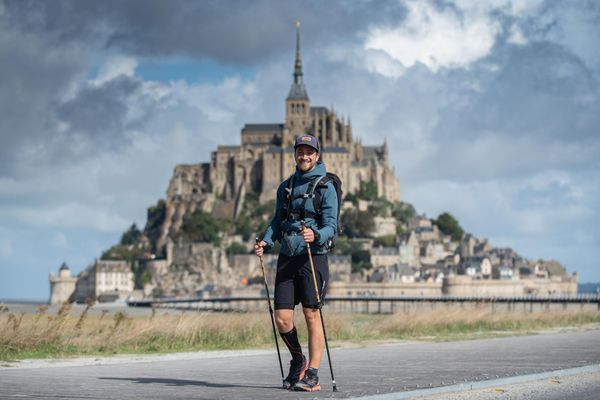Le jour du départ au Mont St Michel