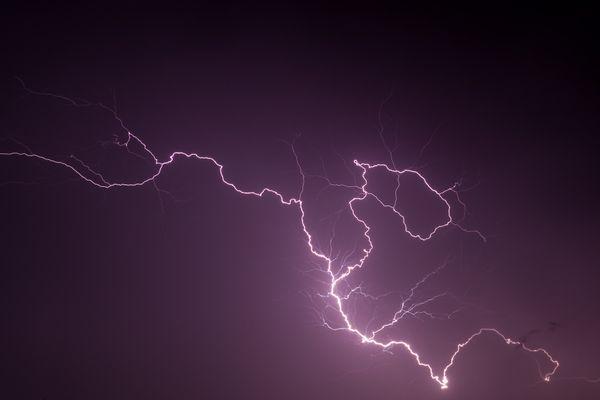 Illustration. Un violent orage en V a touché une partie du Gard dans la nuit du mardi 14 septembre 2021.