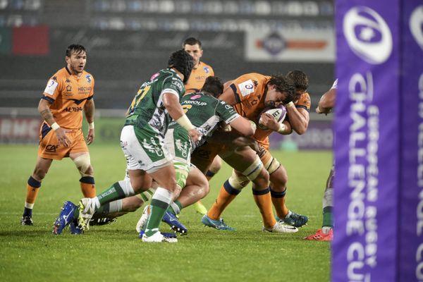 Ce samedi, sur la pelouse du GGL Stadium à Montpellier, les rugbymans du MHR se sont imposés face aux Italiens de Trévise 31 à 25 - 10 avril 2021