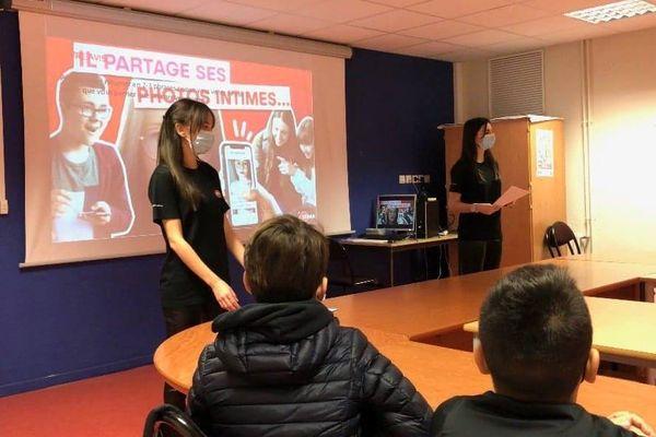 Les étudiants ont mené des campagnes de sensibilisation dans un collège de La Colle-sur-Loup il y a quelques jours.