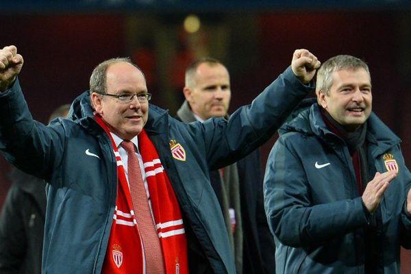 Le Prince Albert II de Monaco, présent à Londres lors du succès 3-1 de Monaco devant Arsenal en 8e de finale aller de la Ligue des champions.
