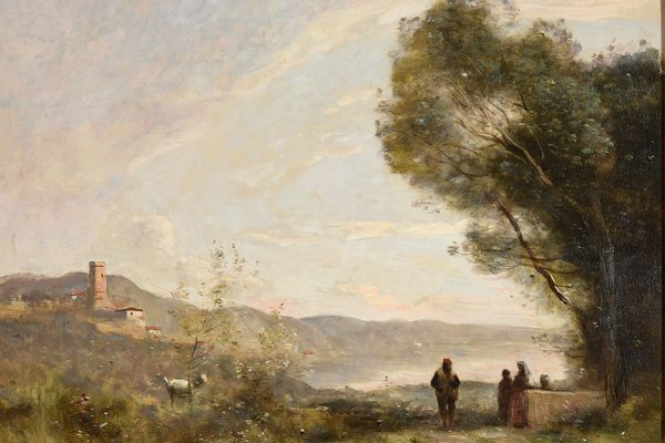 """""""Souvenirs des rives méditerranéennes"""" de Camille Corot est à découvrir sur le musée numérique."""