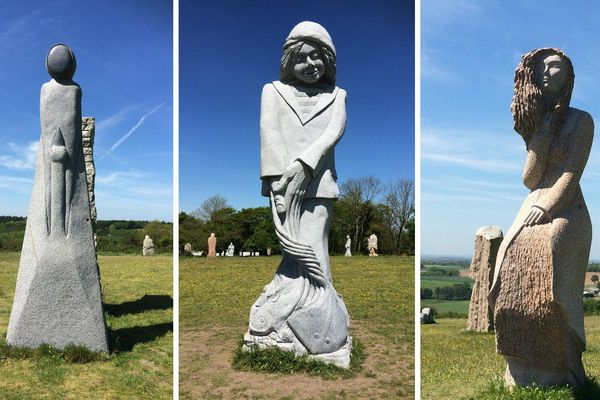 En 2017, les nouvelles statues installées dans la Vallée des Saints