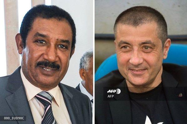 Mohamed Ayachi Ajroudi (à gauche), et Mourad Boudjellal (à droite)