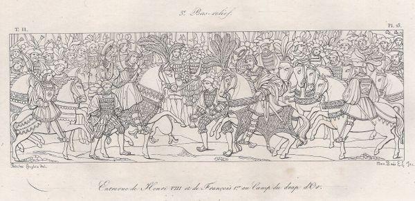 Dessin ayant servi à l'élaboration du bas-relief qui se trouve à l'Hôtel du Bourgtheroulde à Rouen.