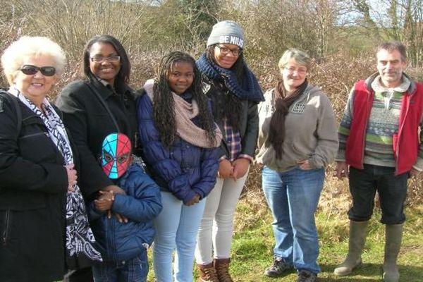 """Une famille en séjour dans le Morvan dans le cadre de """"Gîtes solidaires"""" en février 2015"""