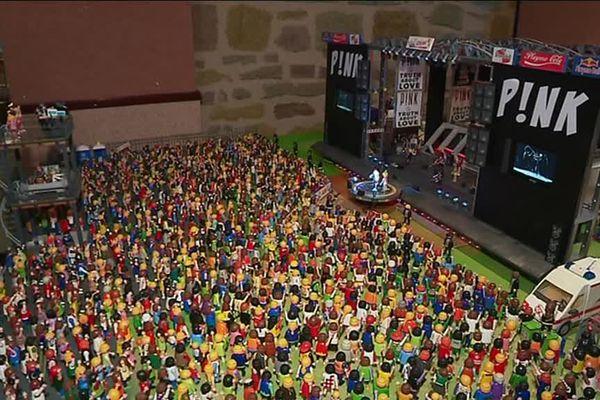 PINK en concert au Brive Festival, c'est possible, avec les Playmobil !