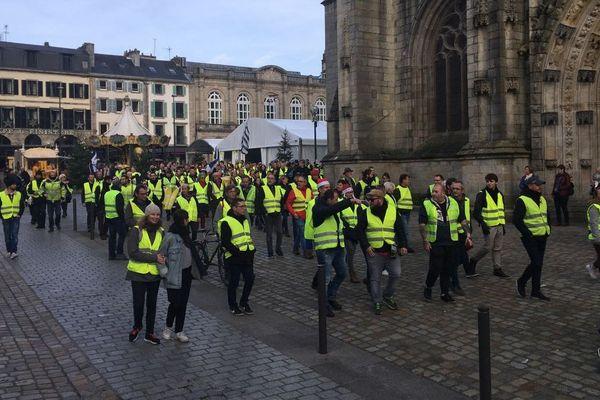 Manifestation des Gilets jaunes à Quimper