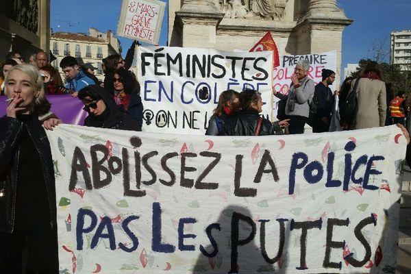 29/01/2020. Les travailleuses du sexe à Marseille sont une nouvelle fois descendues dans la rue pour manifester leur opposition au projet de réforme des retraites.