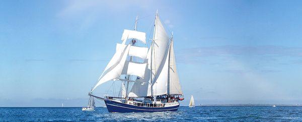 Le Kraken possède un grand-mât, un mât de misaine à l'avant et le mât d'artimon, à l'arrière du bateau.