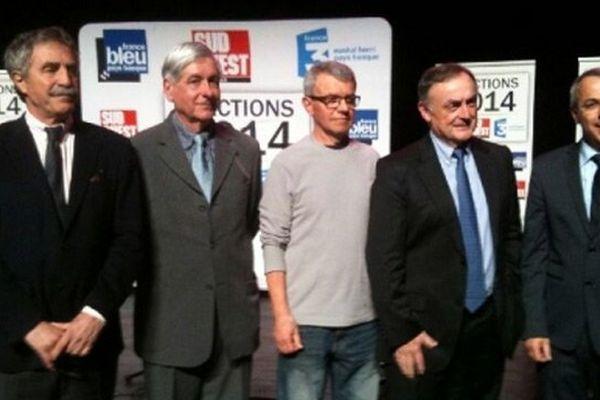Débat spécial municipales à Anglet : les cinq candidats