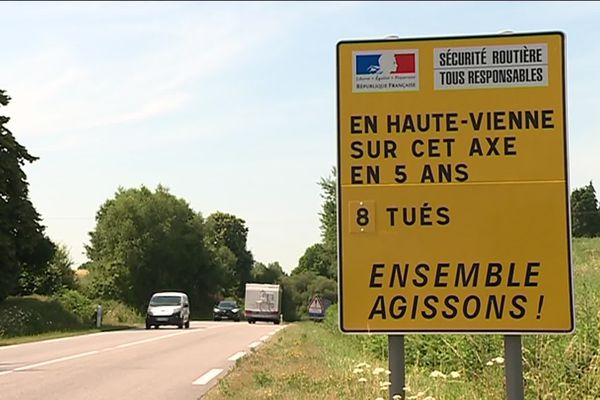 La RN 147, l'une des routes les plus meurtrières du Limousin.