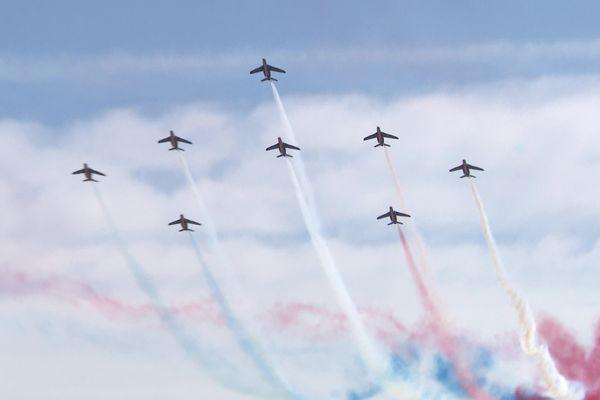 La Patrouille de France dans le ciel de Perpignan