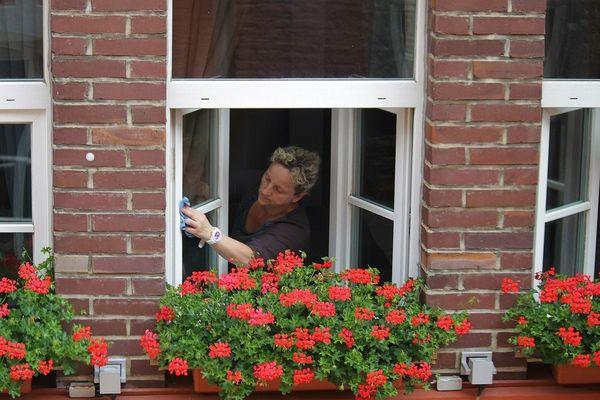 Laver ses fenêtres sans traces. (Image d'illustration)