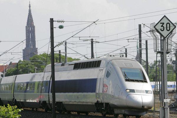 Un TGV Strasbourg-Paris. (image d'illustration)