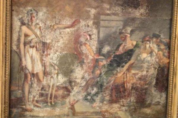 Plusieurs plâtres de l'artiste Triqueti ont notamment été détériorés
