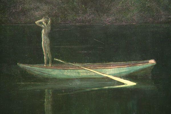 """""""Solitude"""", tableau du peintre américain Thomas Alexander Harrison (1893)."""