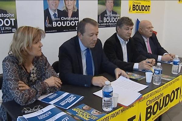 Conférence de presse du Front National à Lyon - 28/11/15
