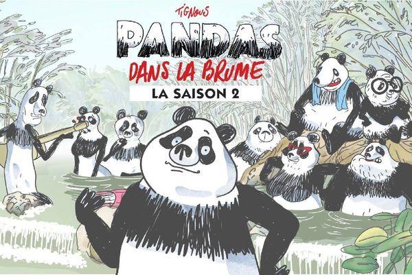 """La saison 2 de la série animée """"Pandas dans la brume"""" d'après Tignous, démarre ce lundi 7 janvier sur France 5"""