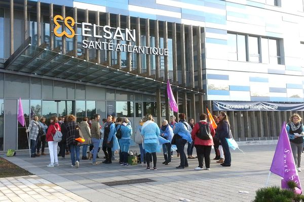 Le personnel de Santé Atlantique à Saint-Herblain en grève depuis le 11 octobre 2018