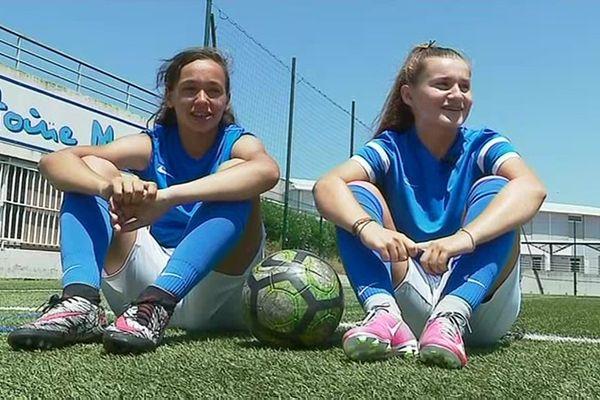 Kenza (à gauche) et Prescillia (à droite)