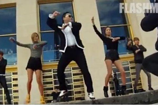 Psy et ses danseurs de Gangnam style
