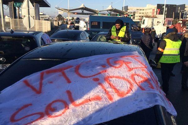 Des chauffeurs VTC ont rejoint les manifestations.