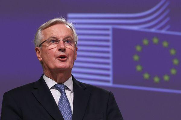 Michel Barnier, le 24 décembre à Bruxelles